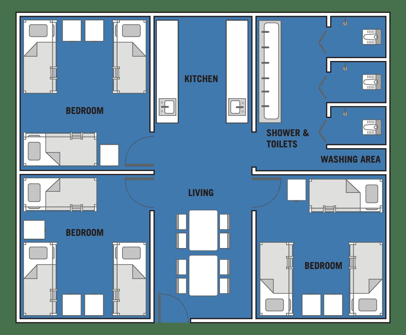 Floorplan of a typical apartment at Westlite Bukit Minyak